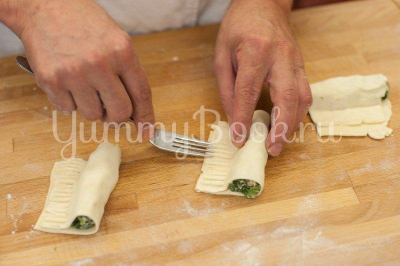 Слойки со шпинатом и сыром Фета - шаг 4