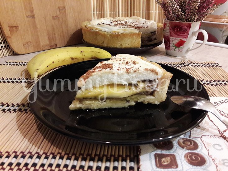 Тарт с бананами и белковым кремом - шаг 17