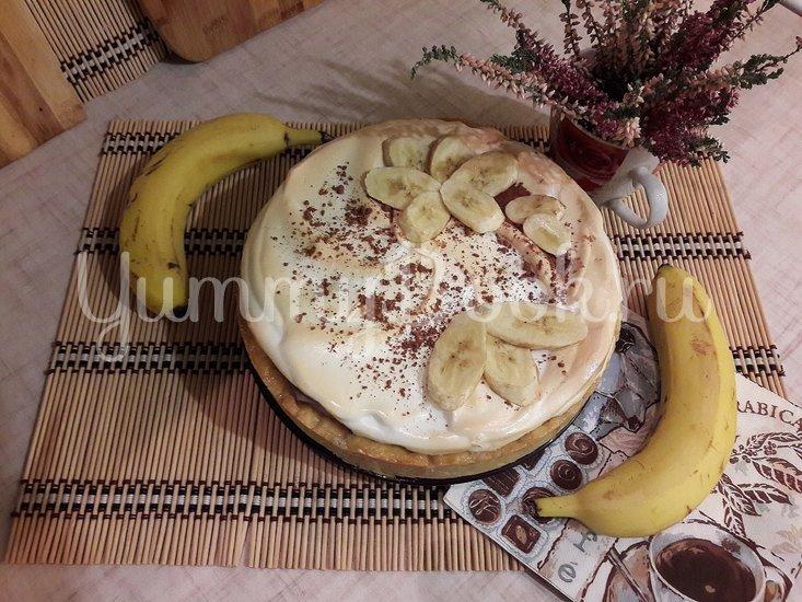 Тарт с бананами и белковым кремом - шаг 15
