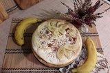 Тарт с бананами и белковым кремом