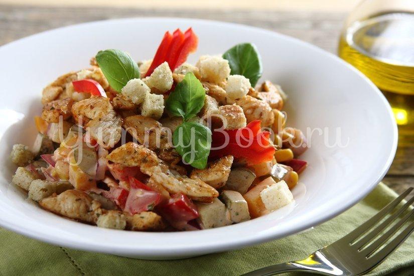 Пикантный салат с курицей - шаг 6