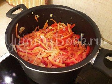 Куриное филе с разноцветными овощами - шаг 7