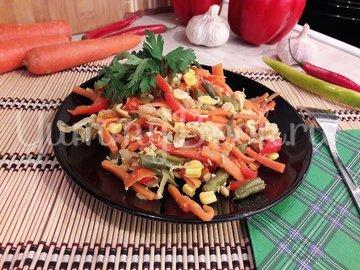 Куриное филе с разноцветными овощами - шаг 13