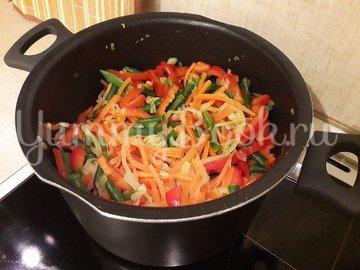 Куриное филе с разноцветными овощами - шаг 8