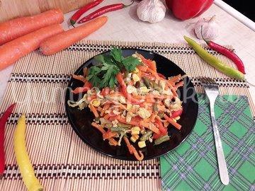 Куриное филе с разноцветными овощами - шаг 12