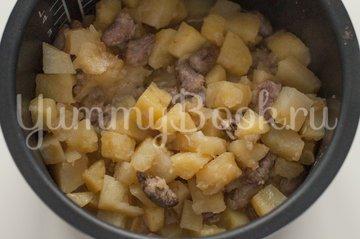 Картофель с куриными сердечками в мультиварке - шаг 3