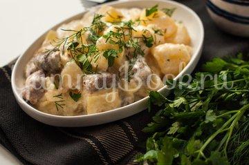 Картофель с куриными сердечками в мультиварке - шаг 6