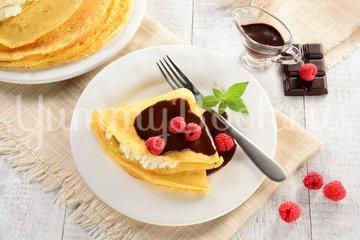 Блины с крем-сыром и шоколадом - шаг 7