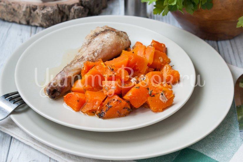 Куриные окорочка, запеченные с тыквой - шаг 4