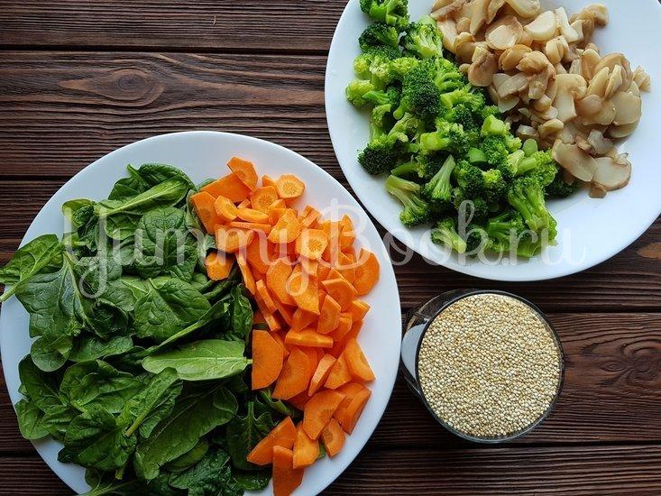 Киноа с овощами - шаг 1