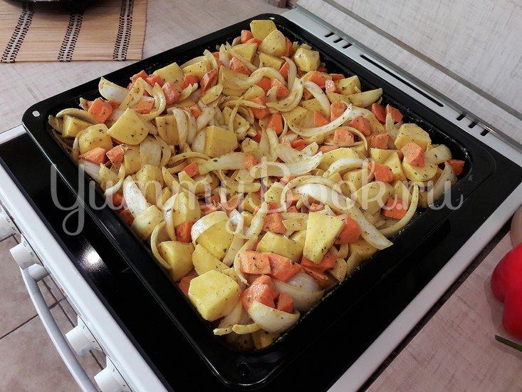 Картофель в горчице и курица в горчично-сметанном соусе - шаг 5
