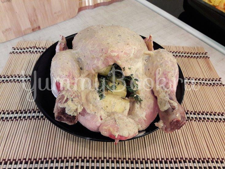 Картофель в горчице и курица в горчично-сметанном соусе - шаг 6