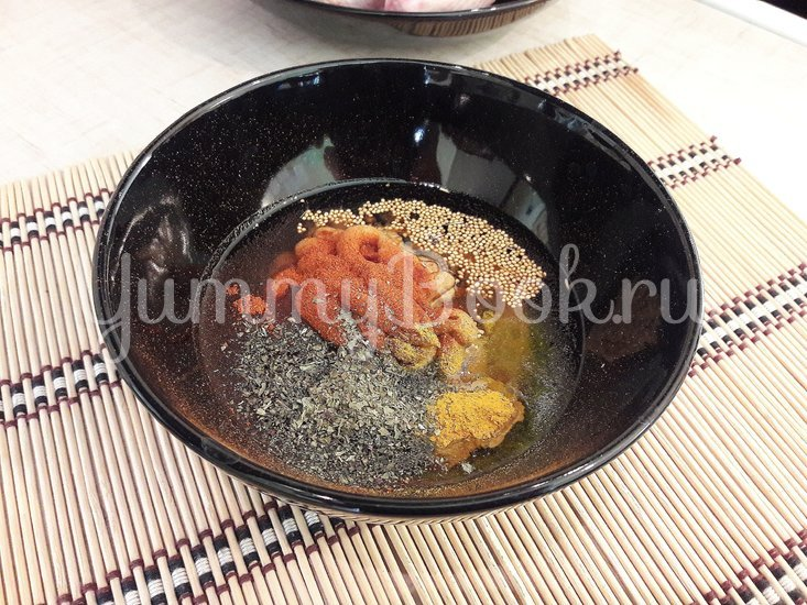 Картофель в горчице и курица в горчично-сметанном соусе - шаг 3