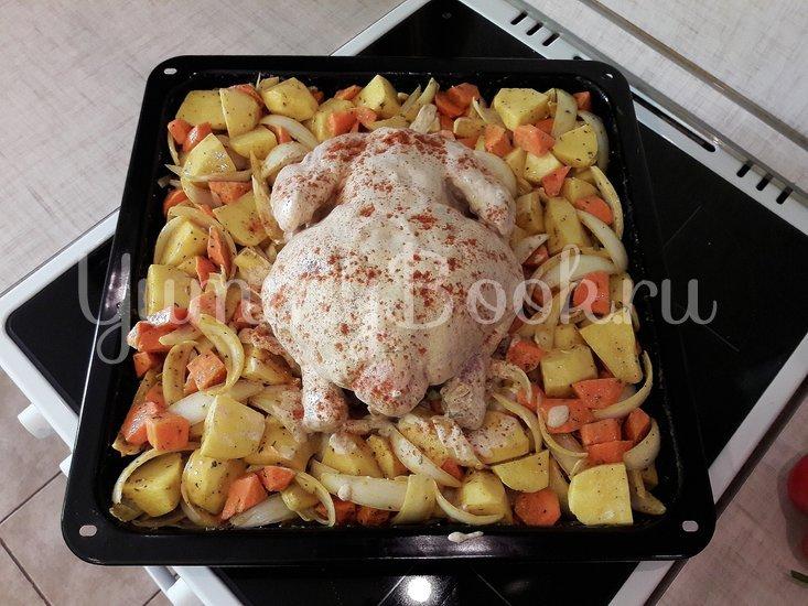 Картофель в горчице и курица в горчично-сметанном соусе - шаг 7