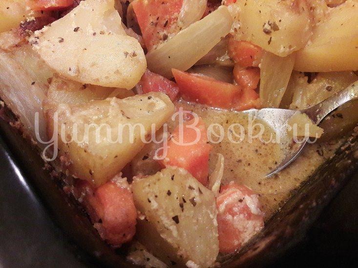Картофель в горчице и курица в горчично-сметанном соусе - шаг 8