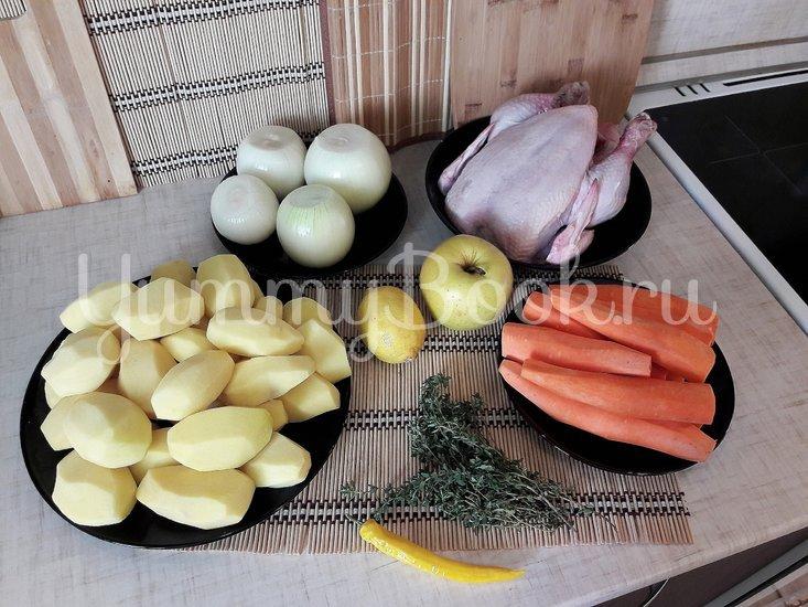Картофель в горчице и курица в горчично-сметанном соусе - шаг 1