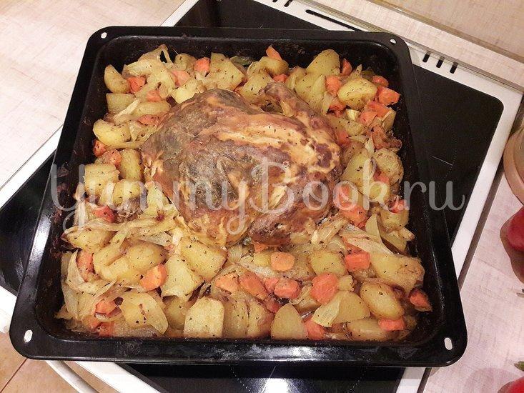 Картофель в горчице и курица в горчично-сметанном соусе - шаг 9