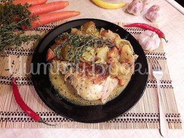 Картофель в горчице и курица в горчично-сметанном соусе - шаг 10