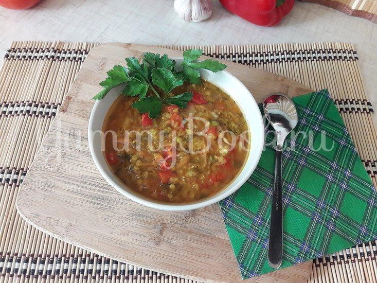 Пряный чечевичный суп с болгарским перцем - шаг 12