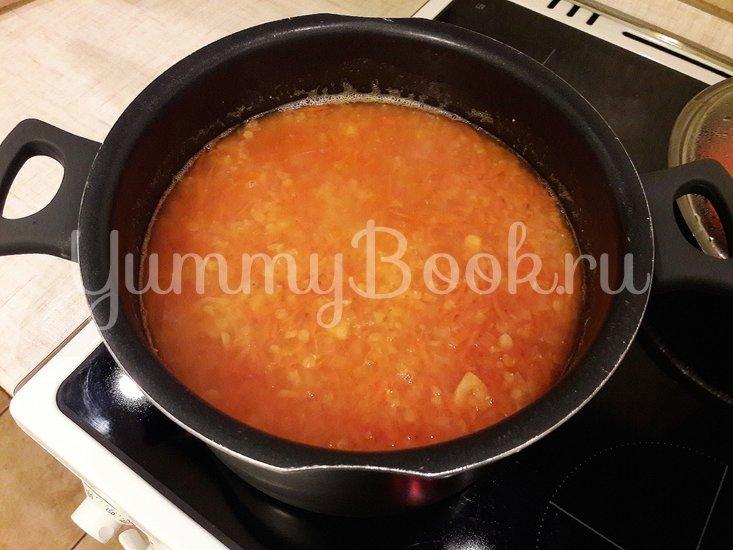 Пряный чечевичный суп с болгарским перцем - шаг 8