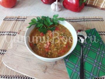 Пряный чечевичный суп с болгарским перцем - шаг 13