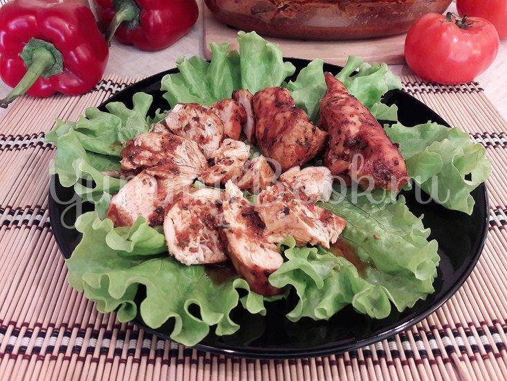 Запечённое куриное филе в томатно-соевом соусе - шаг 8