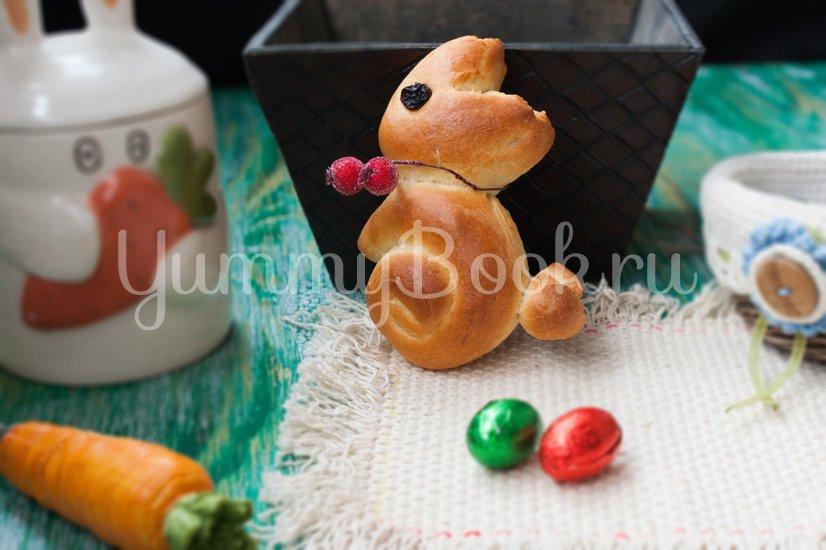 Пасхальные булочки-кролики - шаг 9