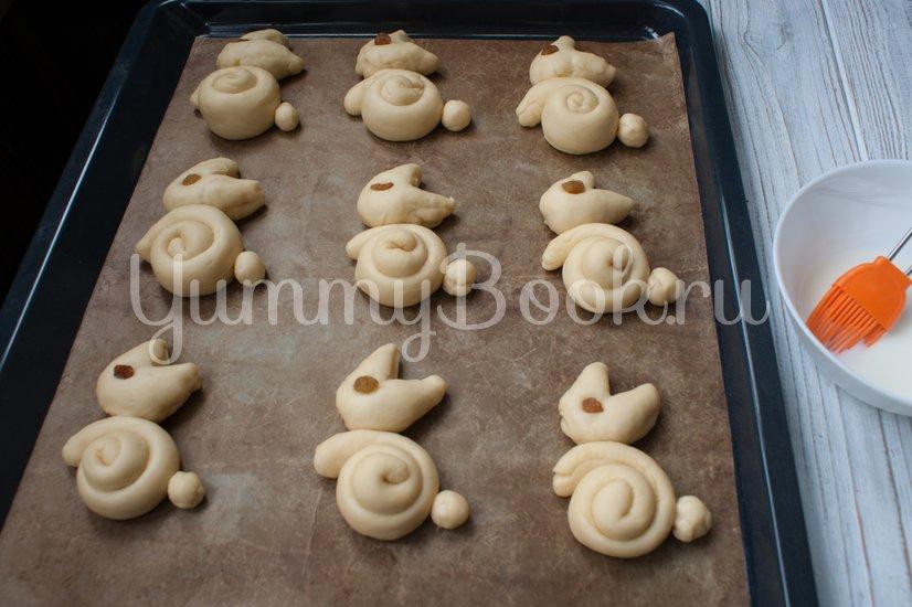 Пасхальные булочки-кролики - шаг 8