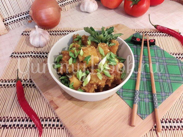 Картофель с соевым соусом и кунжутом  - шаг 10