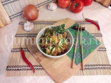 Картофель с соевым соусом и кунжутом  - шаг 8