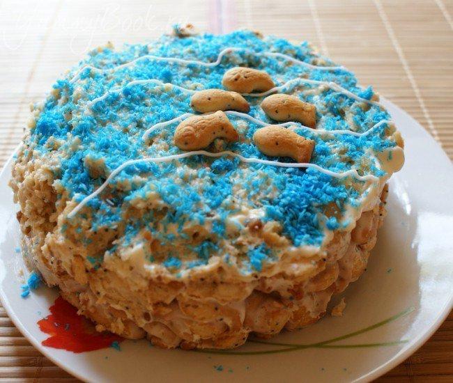 Торт из печенья Рыбки - шаг 5