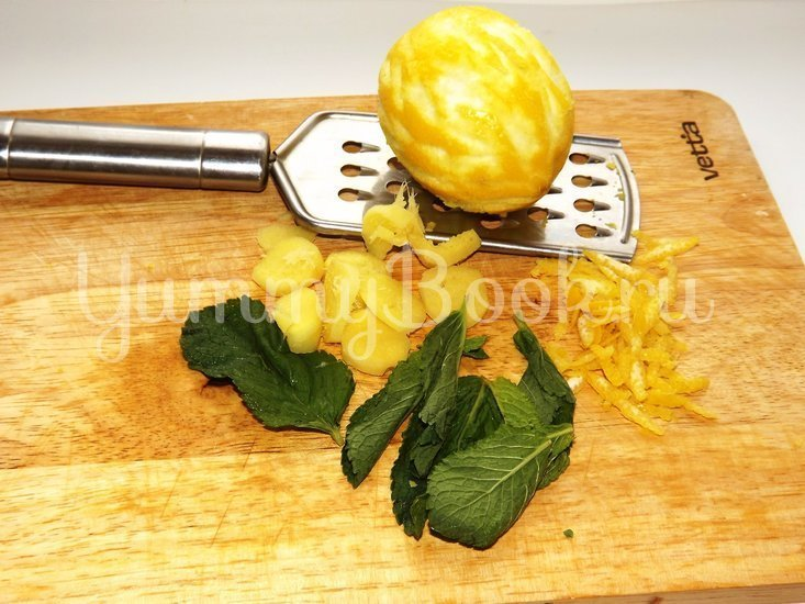 Свиные ребрышки с лимонной цедрой, кориандром и мятой - шаг 2
