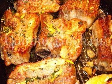 Свиные ребрышки с лимонной цедрой, кориандром и мятой - шаг 13