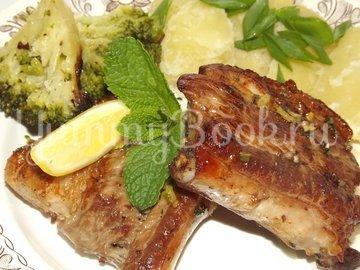 Свиные ребрышки с лимонной цедрой, кориандром и мятой - шаг 14