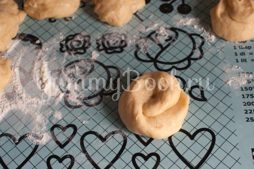 Сахарные  булочки на кефире - шаг 7