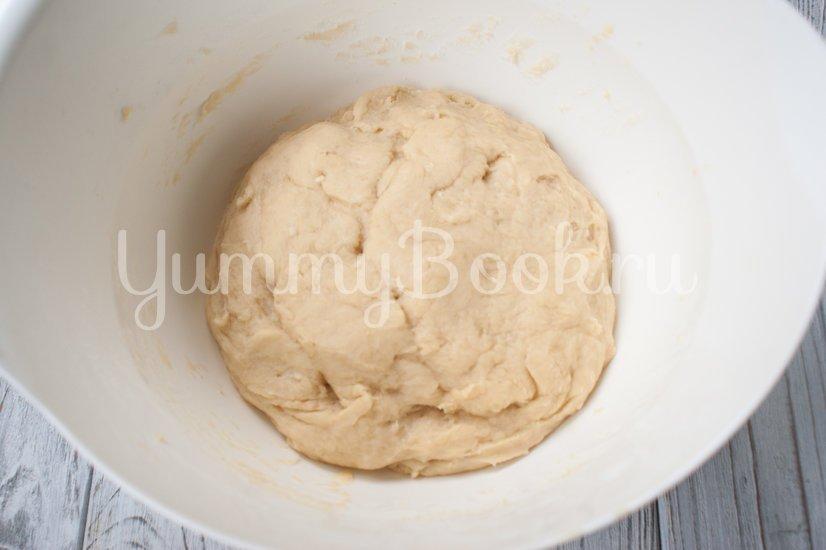Сахарные  булочки на кефире - шаг 3