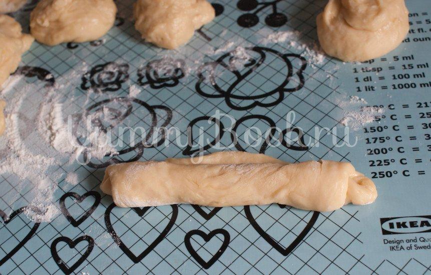 Сахарные  булочки на кефире - шаг 6