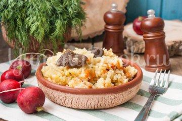 Рис с лесными грибами в мультиварке - шаг 6