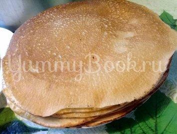 Блинный торт со взбитыми сливками - шаг 1