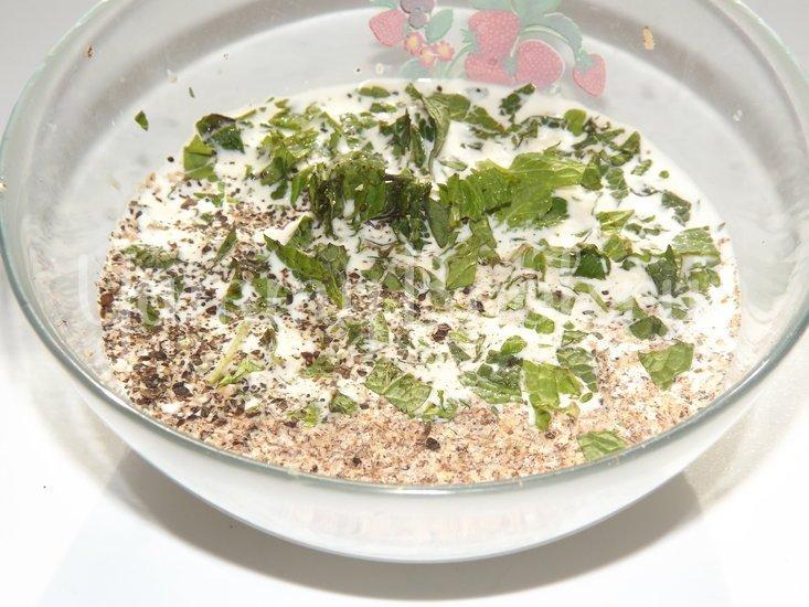 Пирог с цветной капустой и мятой - шаг 7