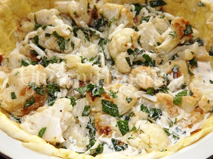 Пирог с цветной капустой и мятой - шаг 11