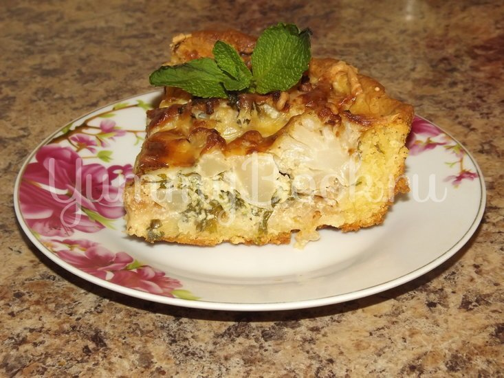 Пирог с цветной капустой и мятой - шаг 15