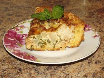 Пирог с цветной капустой и мятой