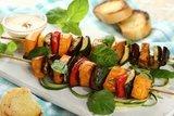 Вегетарианский шашлык из овощей