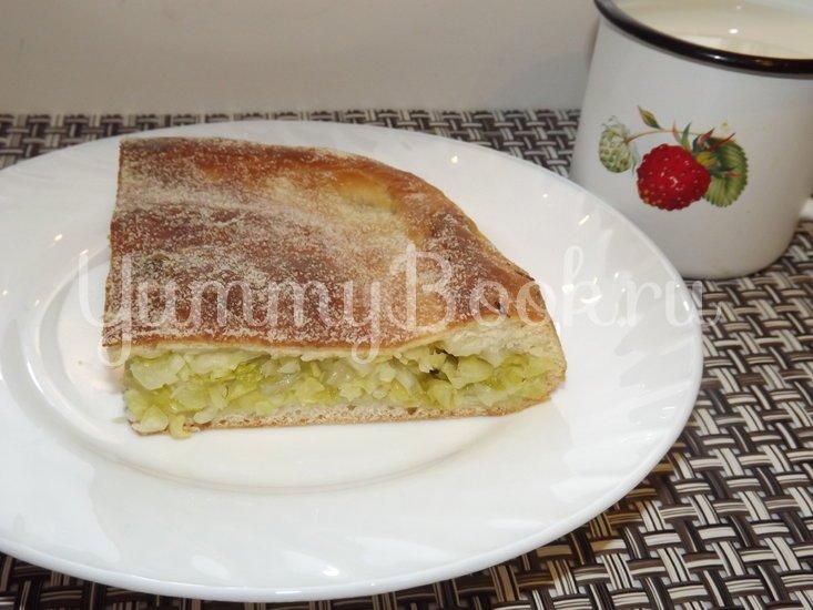 Пирог со свежей рубленой капустой на мамином тесте - шаг 13