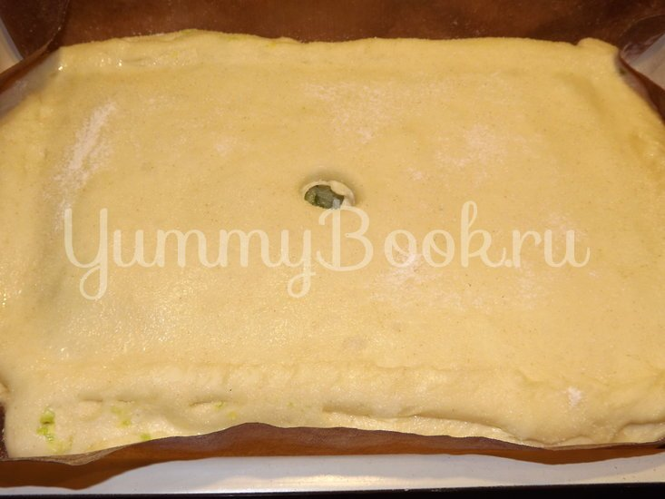 Пирог со свежей рубленой капустой на мамином тесте - шаг 11