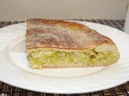 Пирог со свежей рубленой капустой на мамином тесте