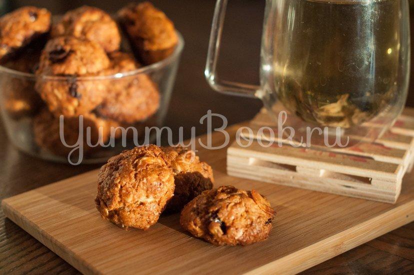 Овсяное печенье с клюквой и миндалем - шаг 5