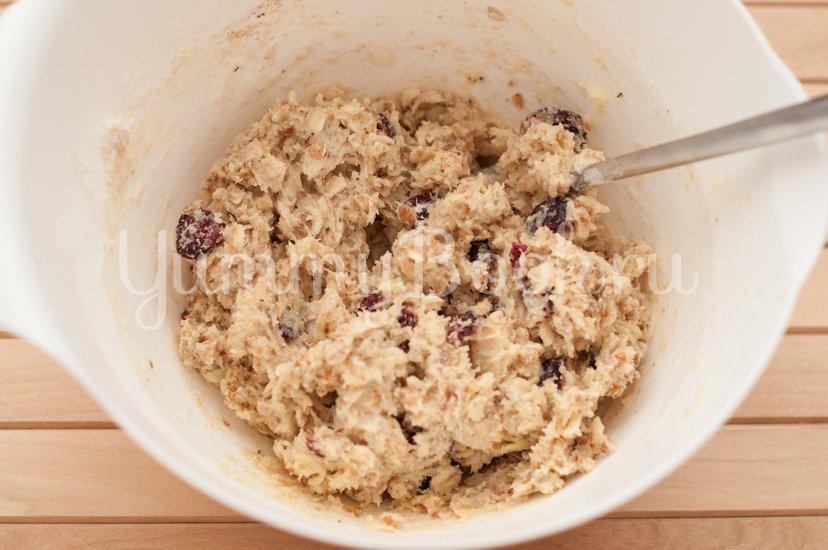Овсяное печенье с клюквой и миндалем - шаг 3