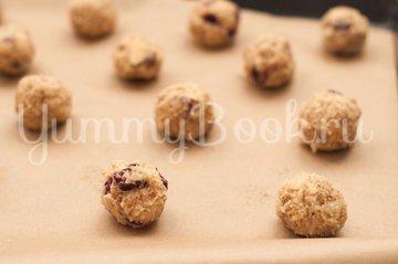 Овсяное печенье с клюквой и миндалем - шаг 4